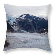 Glacial Field Throw Pillow