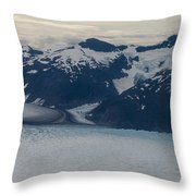 Glacial Panorama Throw Pillow