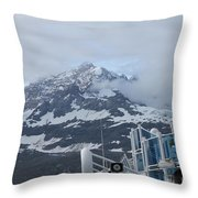Glacier Bay In Its Majesty Throw Pillow