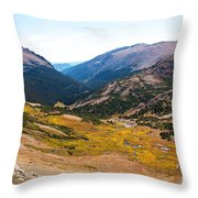 Glacier Cirque - Rocky Mountain National Park Throw Pillow
