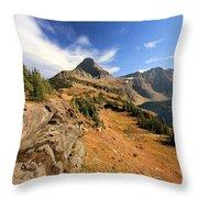 Glacier Hidden Lake Throw Pillow