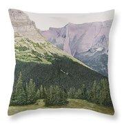 Glacier National Park Montana Throw Pillow