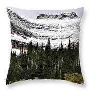 Glacier Park Bowlrock Throw Pillow