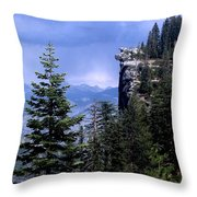 Glacier Point From Four Mile Trail Throw Pillow