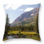 Glacier Ponds Throw Pillow