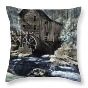 Glade Creek Mill In Infrared. Throw Pillow
