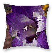 Gladiola Blossom 5 Throw Pillow