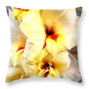 Gladiolus Mirage Throw Pillow