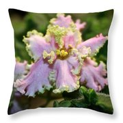 Glamour Blossom Throw Pillow