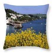 Glandore Village & Harbour, Co Cork Throw Pillow