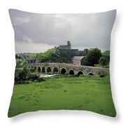 Glanworth Bridge, Funshion River, Co Throw Pillow