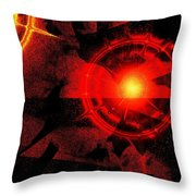 Glaring Throw Pillow