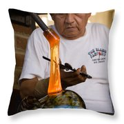 Glass Blower Throw Pillow