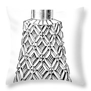 Glass Bottle, 1895 Throw Pillow