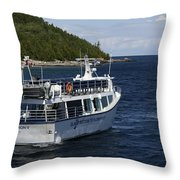 Glass Bottom Boat Throw Pillow