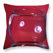 Glass Bowl Before Impact 1 Of 3 Throw Pillow
