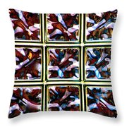 Glass Bricks Throw Pillow
