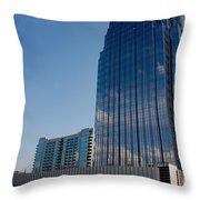 Glass Buildings Nashville Throw Pillow by Susanne Van Hulst