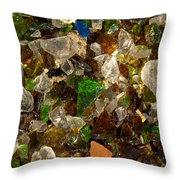Glass Chips Throw Pillow
