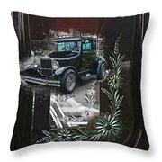 Glass Etching Classic Throw Pillow