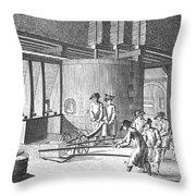 Glass Manufacture, 1751 Throw Pillow
