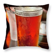Glass Of Beer Throw Pillow