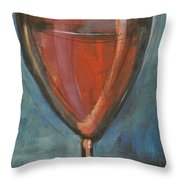 Glass Of Red Throw Pillow by Tim Nyberg