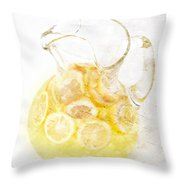 Glass Pitcher Of Lemonade Throw Pillow