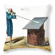 Glassblower, 18th Century Throw Pillow