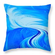 Glassworks In Blue Throw Pillow
