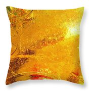 Glassworks Series-gold I Throw Pillow