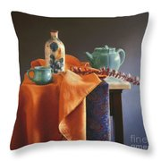 Glazed With Light Throw Pillow
