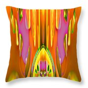 Gleaming Deco Bouquet Throw Pillow