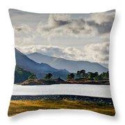 Glen Affric Panorama I Throw Pillow