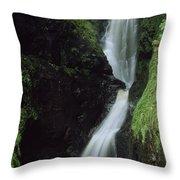 Glenariff Falls, Glens Of Antrim, Co Throw Pillow
