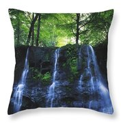 Glenariff Waterfall, Co Antrim, Ireland Throw Pillow