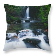 Glencar, Co Sligo, Ireland Waterfall Throw Pillow