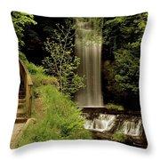 Glencar Waterfall, County Leitrim Throw Pillow