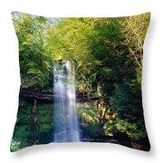 Glencar Waterfall, County Sligo Throw Pillow