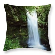 Glencar Waterfall, Yeats Country, Co Throw Pillow