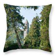 Glendalaugh Round Tower 11 Throw Pillow