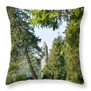 Glendalaugh Round Tower 12 Throw Pillow