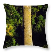 Glendalough, Co Wicklow, Ireland Round Throw Pillow
