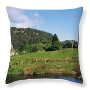 Glendalough, Co Wicklow, Ireland Saint Throw Pillow