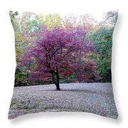 Glenna's Dogwood In The Fall Throw Pillow