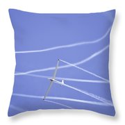 Glider Flying Aerobatics At Airshow Photo Poster Print Throw Pillow
