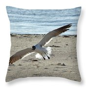 Gliding In Throw Pillow