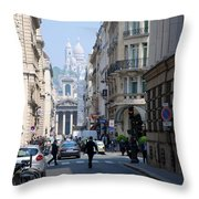 Glimpse Of Montmartre Throw Pillow