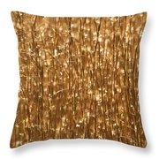 Glistening Gold Prairie Grass Abstract Throw Pillow