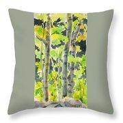Glittering Poplars Throw Pillow